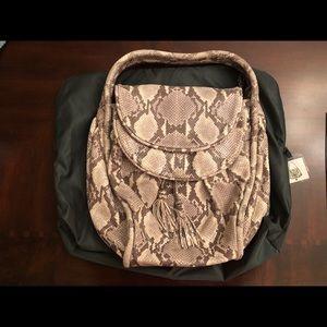 Lockheart snakeskin leather handbag